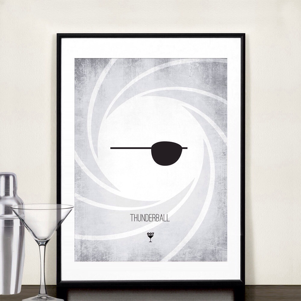 20131118 085210 James Bond Minimalist Prints