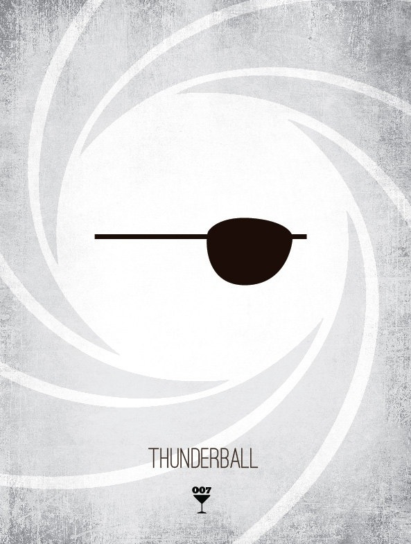 20131118 085217 James Bond Minimalist Prints