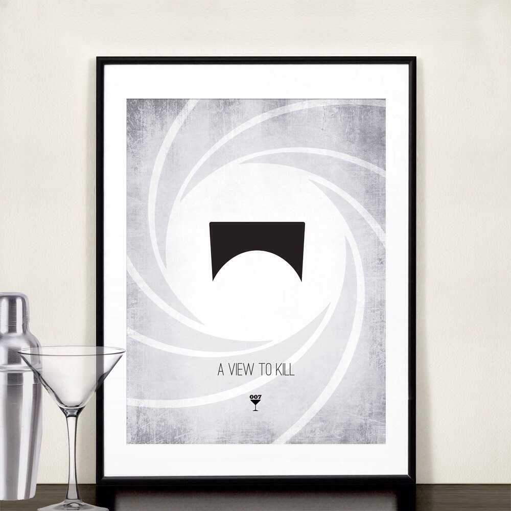 20131118 085224 James Bond Minimalist Prints